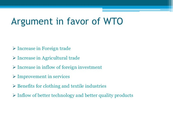 importance of wto