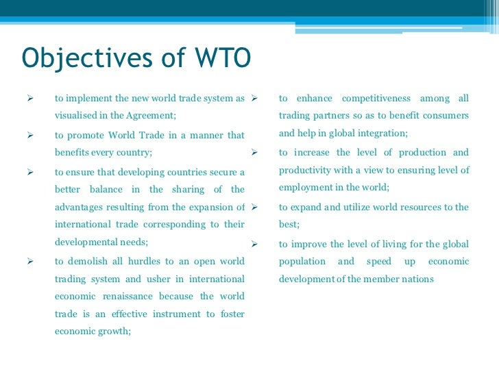 Advantages and disadvantages of wto to india