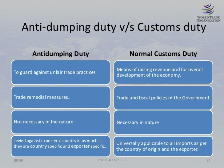the history of anti dumping essay Anti-dumping: problems in international trade 683 in international trade and against more products than ever in its history.