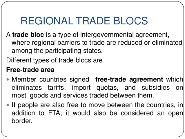 Wtoregional Blocsinternational Commodity Agreement And Global Trade