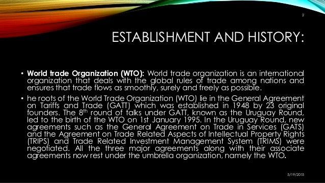 importance of wto in international trade