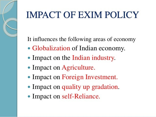 exim policy ppt