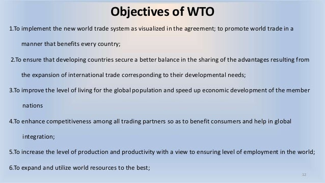 Trading system wto