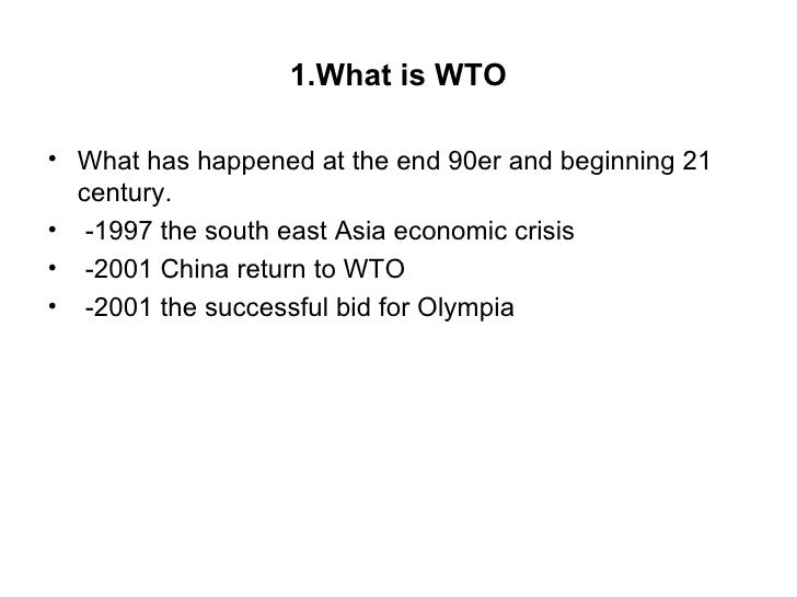 globalization and the wto This part of the globalissuesorg web site looks at the events in seattle during the 1999 wto globalization models and current 1999wto protests in seattle.