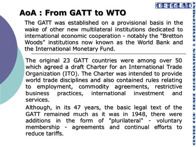 Wtos Agreement On Agriculture Issues And Concerns For India