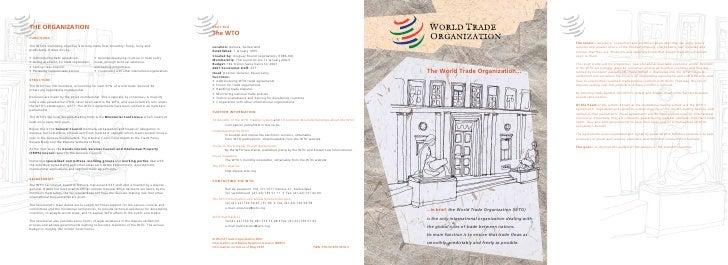 The World Trade Organization......In brief, the World Trade Organization (WTO)is the only international organization deali...