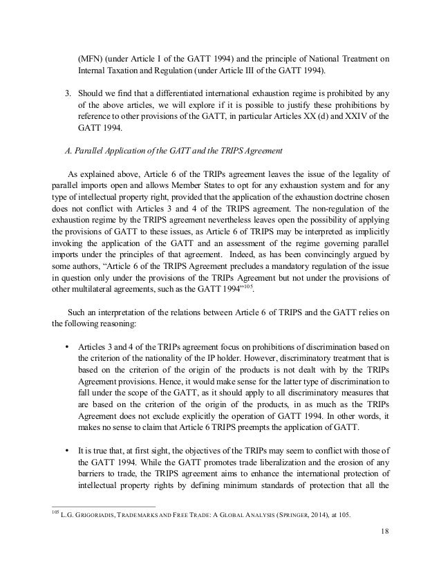 wto gatt 1994 article iii