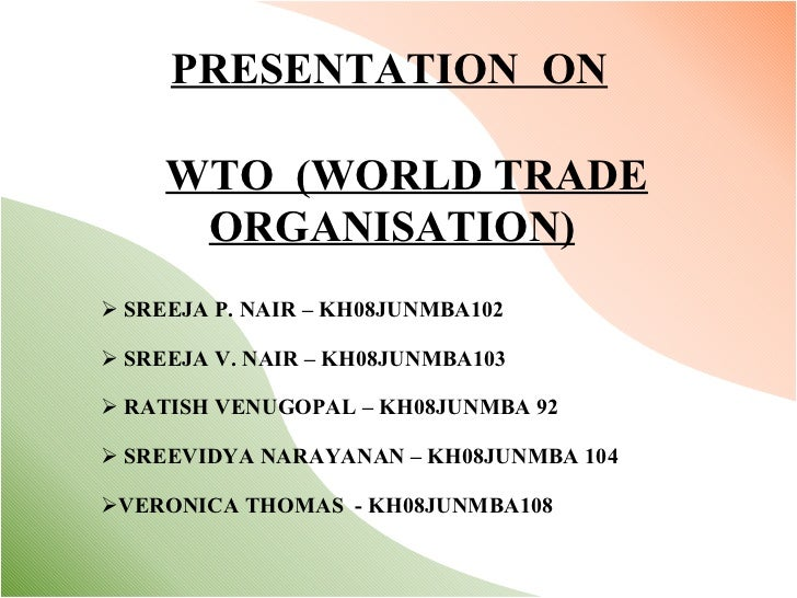 world trade organisation essay International trading would not be the same today without the world trade organization, also known as the wto its main function is dealing with rules of trade.