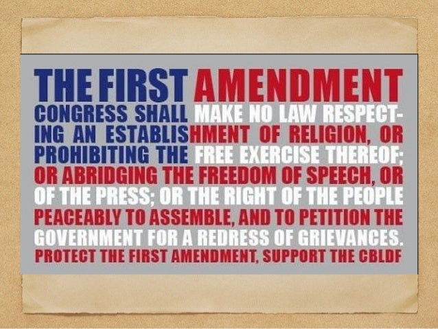 The U.S. Constitution session v First Amendment