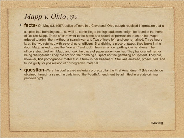 mapp vs ohio review of facts