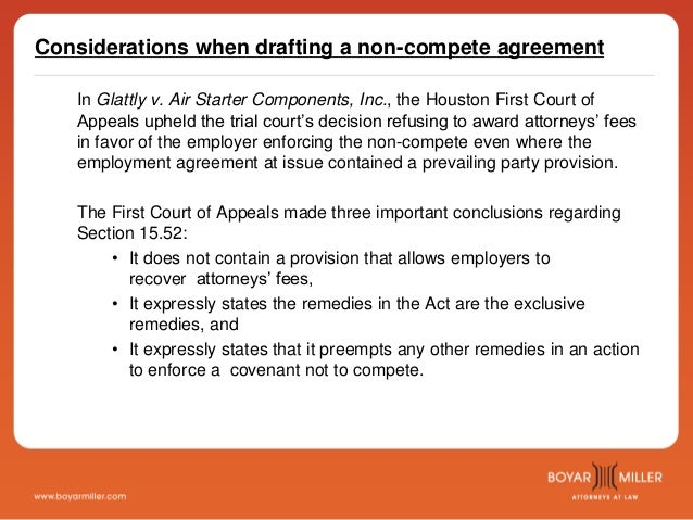 BoyarMiller – The Before, During, and After of Non-Compete Agreements