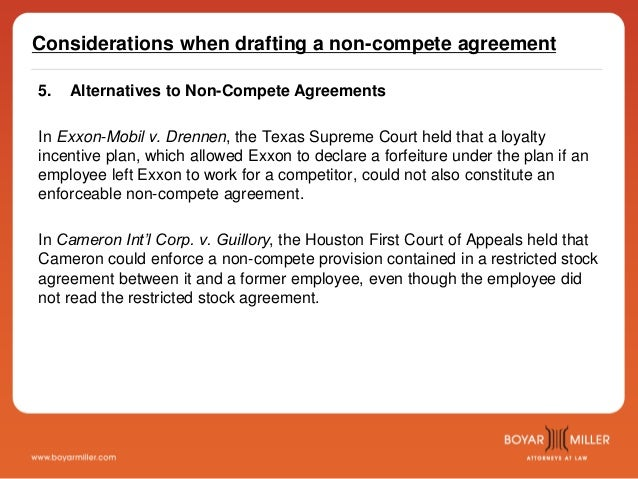 Boyarmiller The Before During And After Of Non Compete Agreements