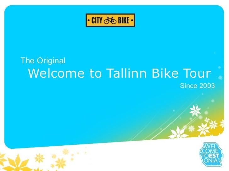 Welcome to Tallinn Bike tour