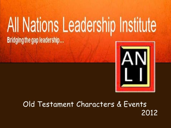 Old Testament Characters & Events                               2012