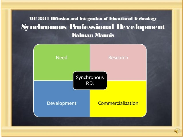 WU 8841 Diffusion and Integration of Educational Technology Synchronous Professional Development Kalman Mannis