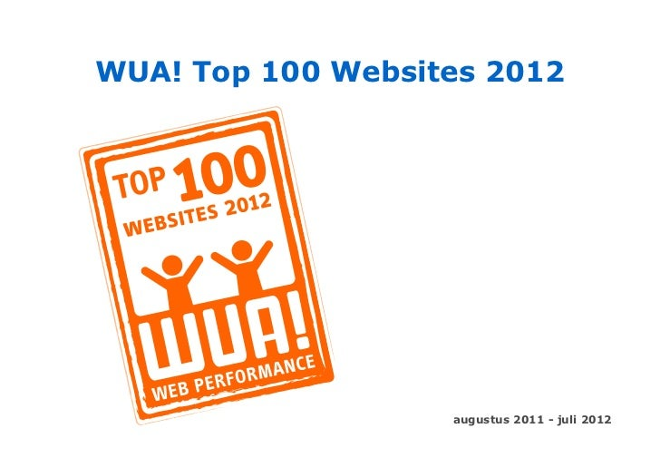 WUA! Top 100 Websites 2012                   augustus 2011 - juli 2012