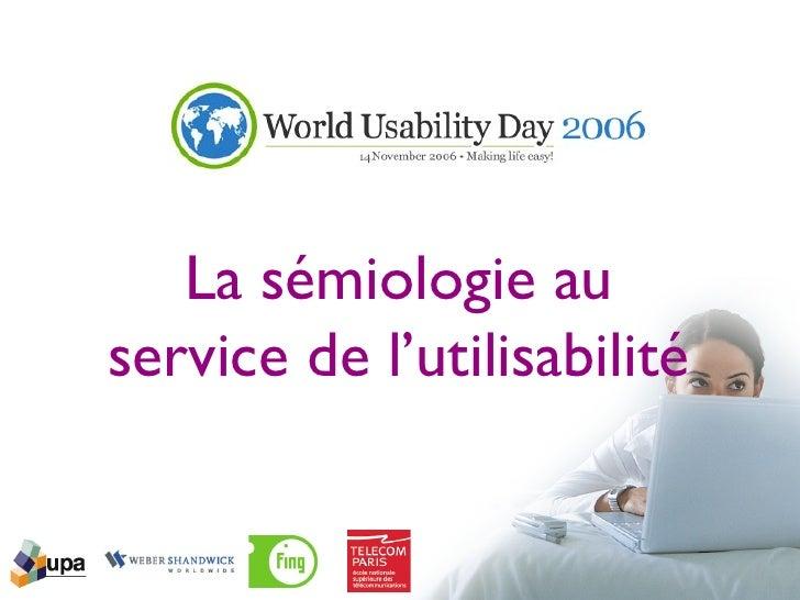 La sémiologie au service de l'utilisabilité