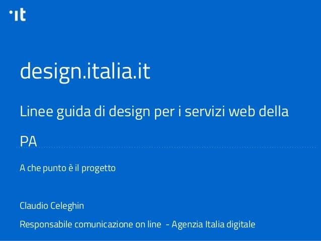 Linee guida di design per i siti web della pa claudio for Programmi per designer