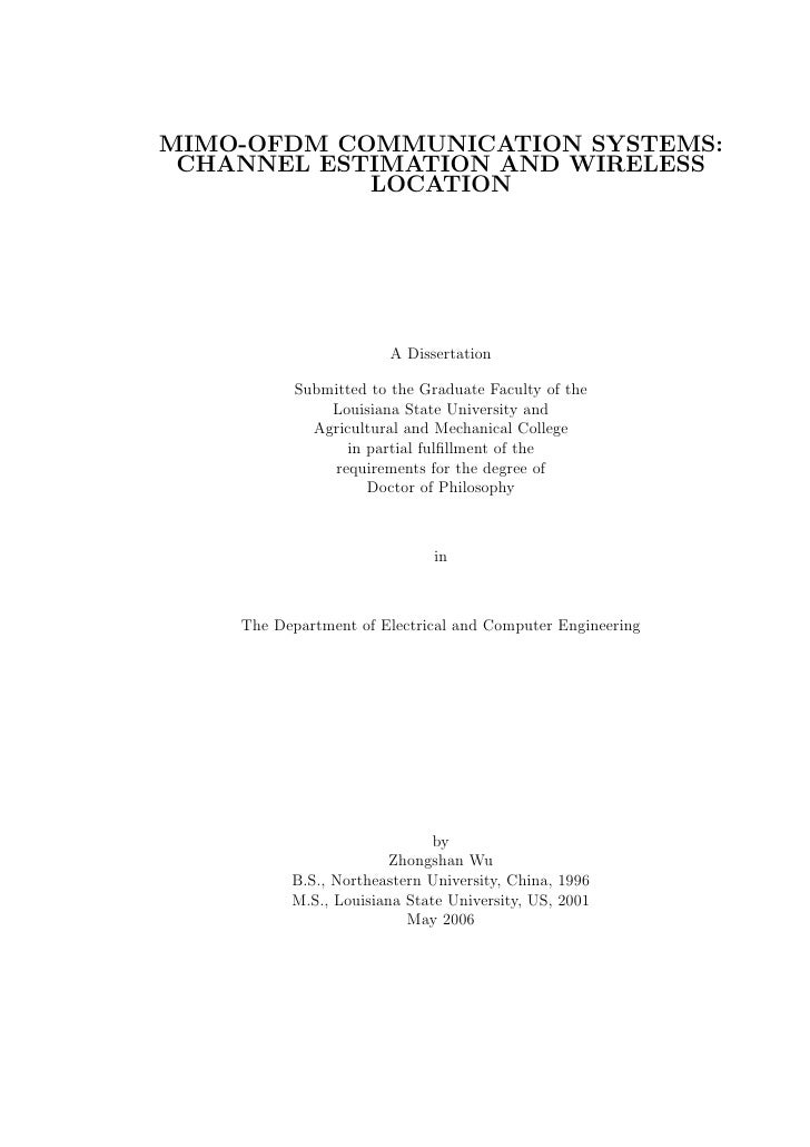 PhD Topics in Electronics and Communication Engineering