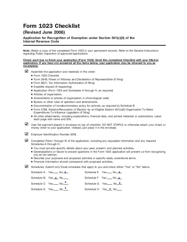 World Upside Down 501(c)(3) Non-Profit Application