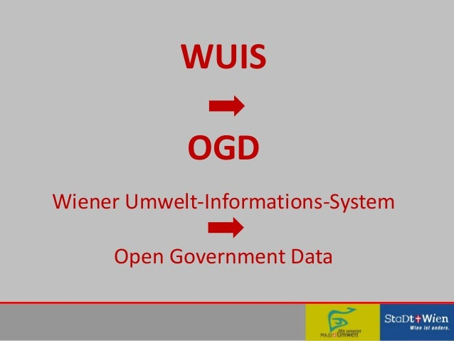 WUIS OGD Wiener Umwelt-Informations-System Open Government Data