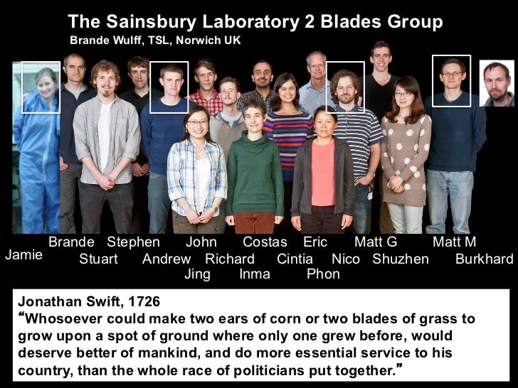 The Sainsbury Laboratory 2 Blades Group        Brande Wulff, TSL, Norwich UK      Brande Stephen   John    Costas Eric    ...