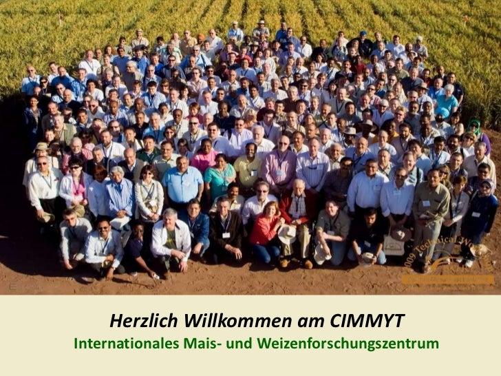 Herzlich Willkommen am CIMMYT<br />Internationales Mais- und Weizenforschungszentrum<br />