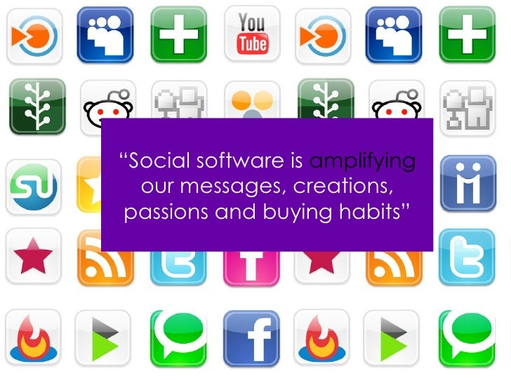 """"""" Social software   is   amplifying   our messages, creations, passions and buying habits."""""""