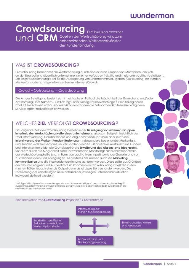 Crowdsourcing                                        Die Inklusion externerund CRM                                 Quell...
