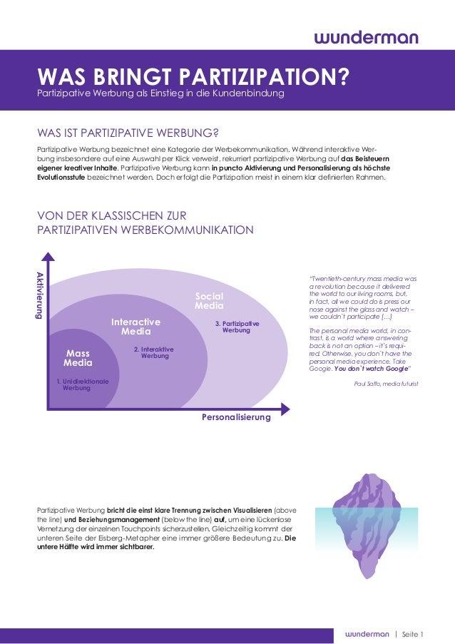 | Seite 1 Was ist partizipative Werbung? Cookiesder neue Feind der Nutzerfreundlichkeit? Partizipative Werbung bezeichnet ...