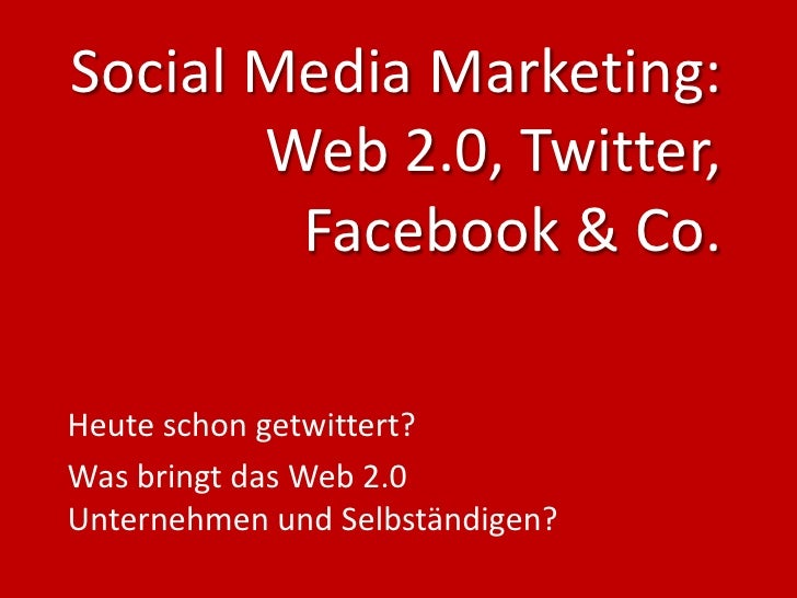 Social Media Marketing - 2010