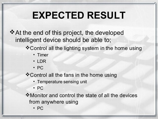 Home automation using pc project