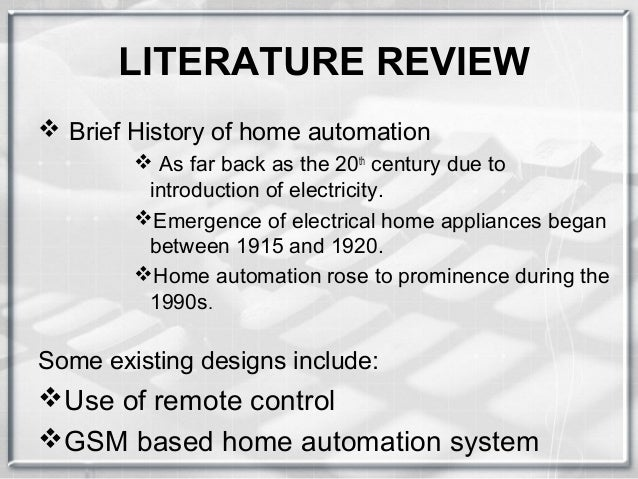 Home Automation: Design and Construction of an intelligent ...