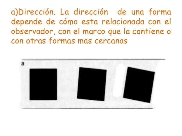 b)Posición. La posición de una formadepende de cómo está relacionada con elobservador, con el marco que la contiene ocon o...