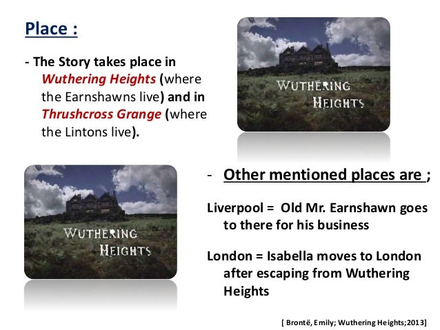 analysis of wuthering heights An essential element of wuthering heights is the exploration and extension of the meaning of romance by contrasting the passionate, natural love of catherine and heathcliff with the socially .