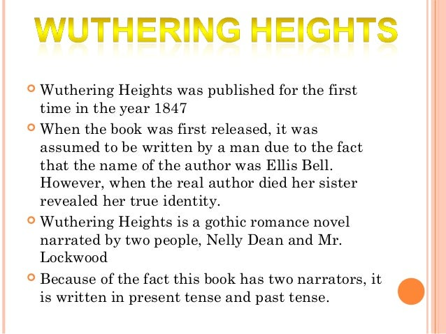 wuthering heights review Title: wuthering heights author(s): emily brontë no of pages: 367 genre: classic, romance publication date: september 5th 1847 date read: january 31st 2018 45/5 ★ blurb wuthering heights.