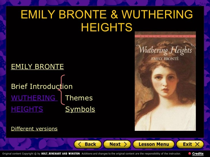 exploring the many relevant themes in emily brontes novel wuthering heights Many critics of emily brontë's novel wuthering heights see its second part as a counter-point that comments on, if it does not reverse, the first part, where a romantic reading receives more confirmation.