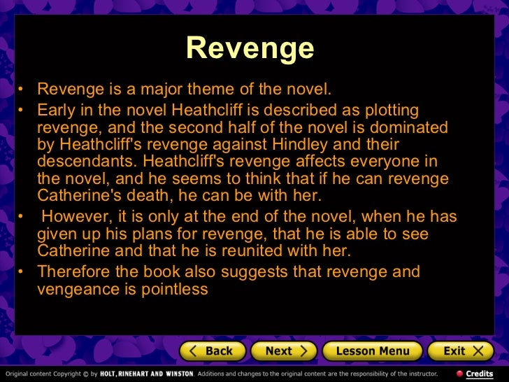 Wuthering Heights Essays On Revenge this
