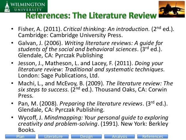 preparing literature reviews pan A literature review can be a short introductory section of a research article or a report or policy paper that focuses on recent research or, in the case of dissertations, theses, and review articles, it can be an extensive review of all relevant research  pan, m, & lopez, m (2008) preparing literature reviews: qualitative and.