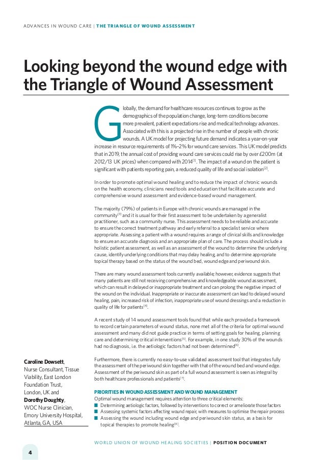 Advances In Wound Care The Triangle Of Wound Assessment