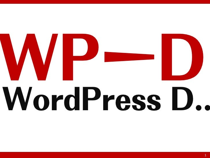 WPーDWordPress D..            1