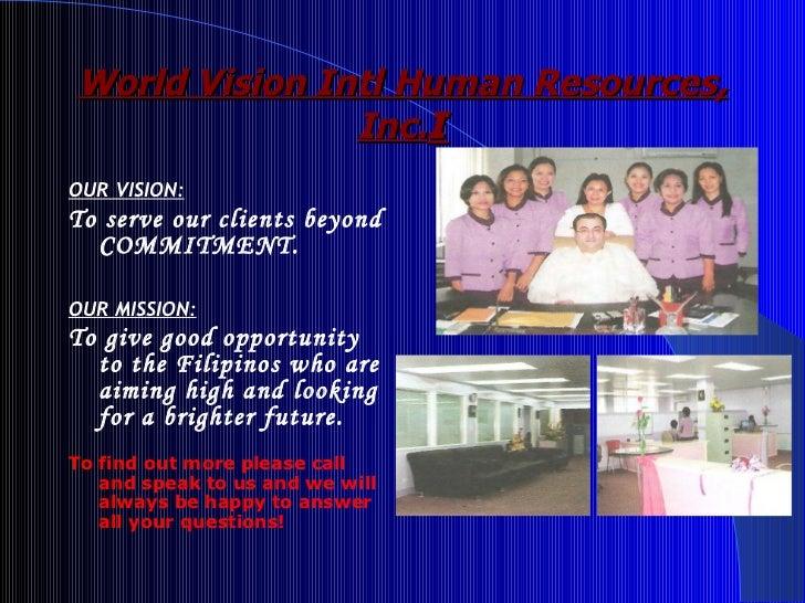 World Vision International Human Resources Inc Company