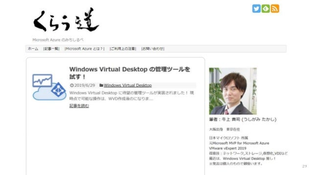 Windows Virtual Desktop 解説 Slide 29