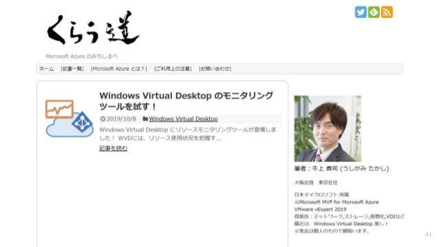Windows Virtual Desktop 解説 Slide 31