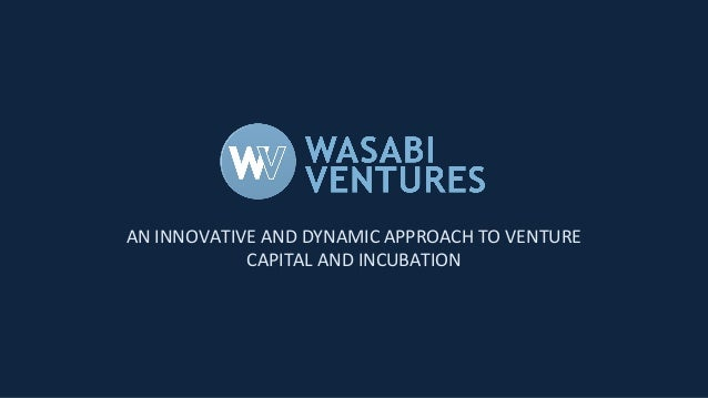 AN INNOVATIVE AND DYNAMIC APPROACH TO VENTURE CAPITAL AND INCUBATION