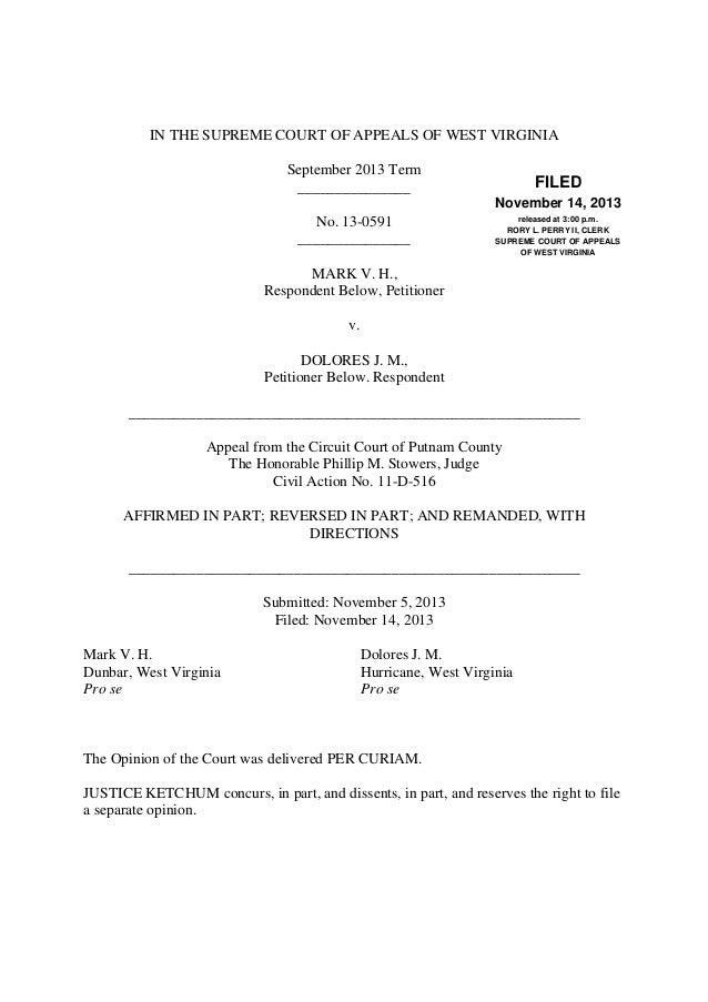 Wv supreme court opinion mark v halburn v dolores j halburn 13 05 solutioingenieria Images
