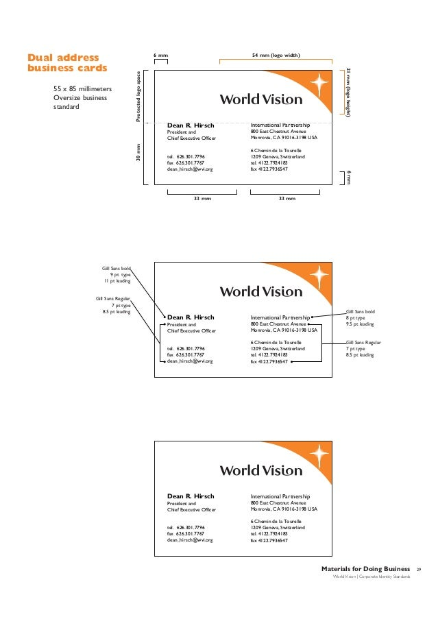 Famous Business Cards Standard Size Images - Business Card Ideas ...