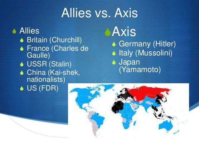 what countries were allies in ww2