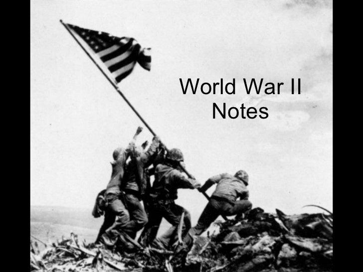 World War II Notes