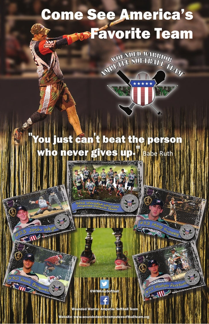 """Come See America's       Favorite Team""""You just cant beat the person  who never gives up."""" Babe Ruth                      ..."""